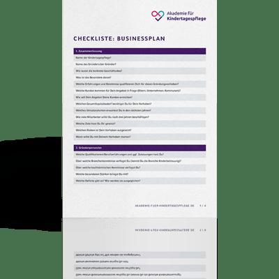 Checkliste Businessplan